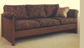 Pet-friendly, durable, wood contemporary sofa, firm or soft
