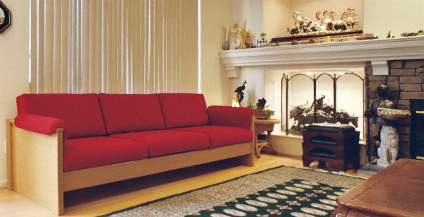 Large Oak Contempary sofa