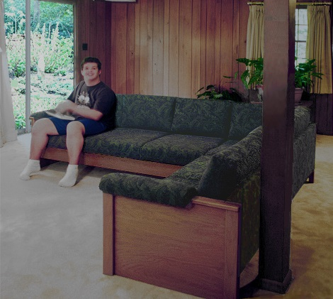 heavy  duty sofa seat for heavy person with autism