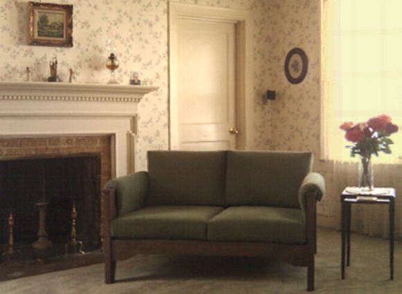 small traditional living room loveseat