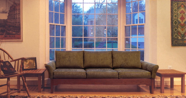 green living room sofa