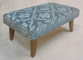 ottoman foot stools custom size, any fabric