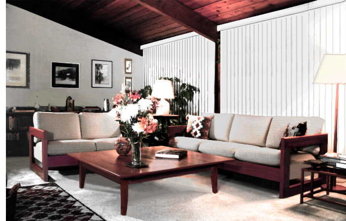 modern sofa and loveseat