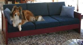 dog and cat friendly, heavy duty wood sofa