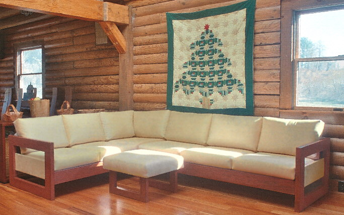 lodge home/log home sectional sofa