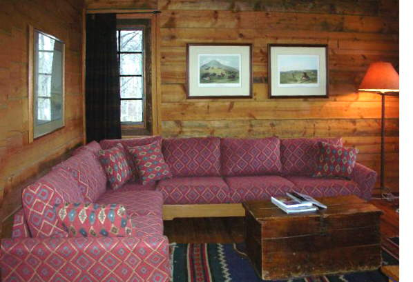 custom log home sofa